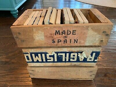 Interesting Original Crate of Ramos Rejano Tiles with Label