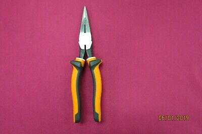 """Klein 203-8 Eins Insulated Electrician 8"""" Long Nose Side Cutting Plier New"""