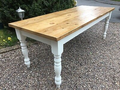 5 6 7 8 9 10 ft farmhouse dining table OR MADE TO YOUR REQ SIZE F&B ANNIE SLOAN
