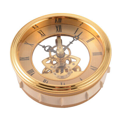 Quartz Clock Insert Movement Mechanism Motor 97mm Roman Numerals Golden BI1259