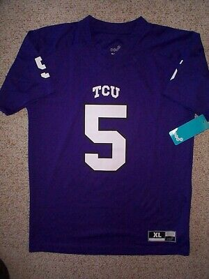 online store a2524 9e52f NIKE YOUTH BOYS TCU Horned Frogs Football Jersey Purple ...