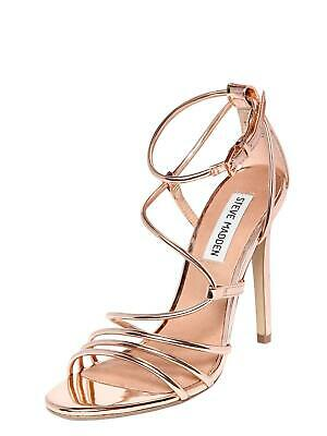 bab8d453f7e STEVE MADDEN WOMENS Smith Open Toe Special Occasion Ankle, Rose Gold, Size  5.0