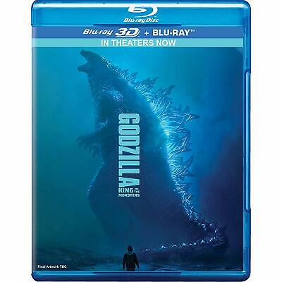 Godzilla: King of the Monsters (2019) (Blu-ray 3D + Blu-ray) (Region Free) (New)