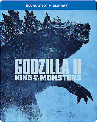 Godzilla: King of the Monsters (2019) (Blu-ray 3D + Blu-ray) (STEELBOOK) (New)