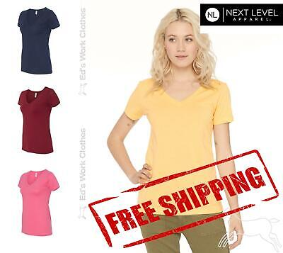 Next Level Women's Ideal V Neck T Shirt Top 1540 Blank Plain Solid up to 3XL