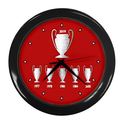 6 Times European Champions Liverpool Wall Clock **Just Added** A1