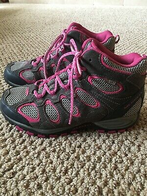 32728c66c3b64 Merrell Select Dry Hiking Shoes Kids Girls Size 6 grey/pink MY52019A