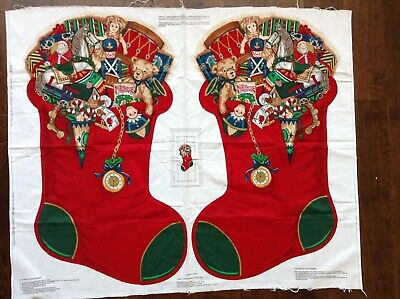 """Cranston Print works christmas stocking large 32"""" Home for the Holidays panel"""