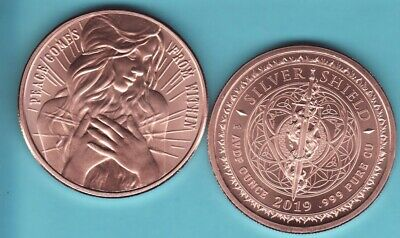 PEACE COMES FROM WITHIN    1 oz Copper Round Coin  from Silver Shield  2017