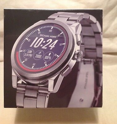 c3aeed587 NWT -SEALED BOX Michael Kors MKT5025 Access Grayson Silver Tone Smartwatch