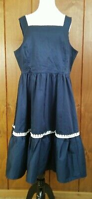 7963c9770a59 Collectif Frida Plain Sundress US14/1X Modcloth Passion for Poise Navy Swing