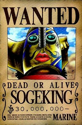 One Piece WANTED Poster (A3: 27 x 41 cm)  – SOGEKING (USOPP)