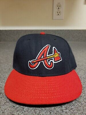 check out 846cd 39405 Atlanta Braves New Era Fitted Hat Cap 59Fifty 5950 59 Fifty Blue MLB 7 1
