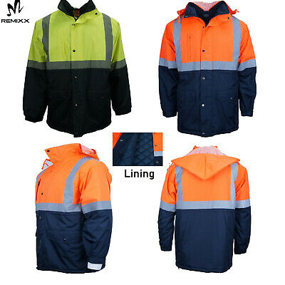 Hi Vis Safety Jacket Soft Shell Reflective Showerproof Windproof With Hooded