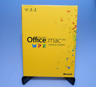 MICROSOFT OFFICE 2011 for Mac Home and Student Family Pack W7F-00076 Family  Pack