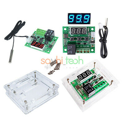 W1209 12V LED Digital Thermostat Temperature Control Switch Sensor Module + Case
