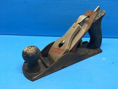 """Vintage Antique  Stanley Bailey No 4 Wood Plane 9"""" Long -----------Free Shipping"""