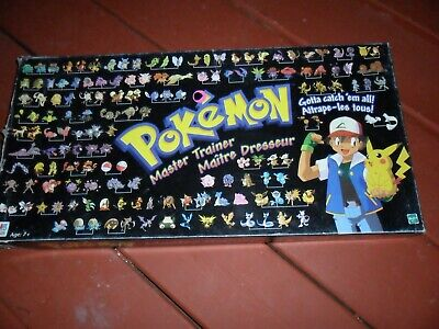 POKEMON Master Trainer Game Milton Bradley Hasbro NOT COMPLETE  GREAT PARTS GAME