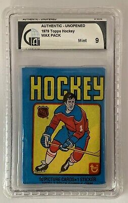 1979 Topps Hockey WAX PACK Authentic Unopened GAI Graded MINT 9