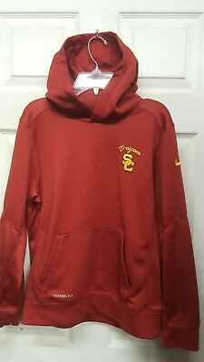 4e58fb3d0 Ncaa Usc Trojans * Nike Therma-Fit Hoodie Youth L * Good Used Condition  N06319