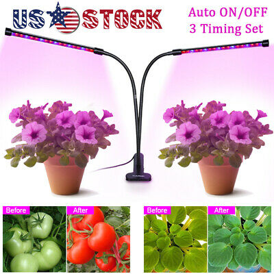 DUAL HEAD PLANT Grow Light Lamp + 40 LED for Indoor Plants