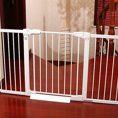 Baby Pet Safety Gate Bar Dog Barrier Folding Home Doorway Stair Shield Locking