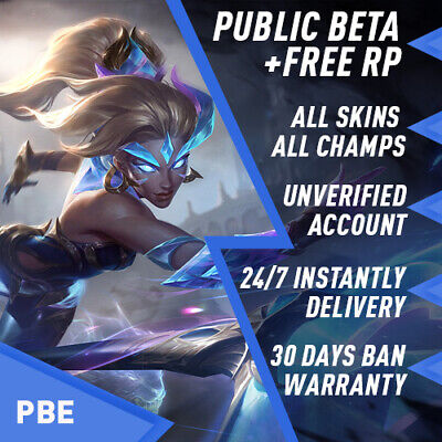 PBE League of Legends LOL Account Smurf unl. BE IP Unranked Level 30 PC