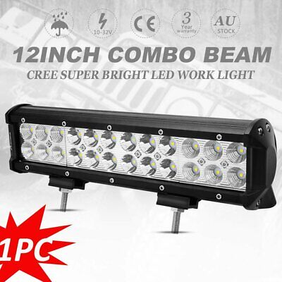 12inch 240W CREE LED Light Bar Work Spot Flood Combo Offroad for Jeep SUV ATV