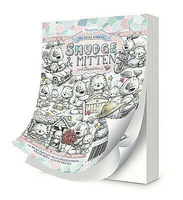 Hunkydory Little Book of SMUDGE & MITTEN Paper Toppers Card Making 24 SHEET SET