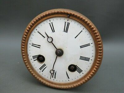 Antique French clock movement dial bezel and hands S Marti & Cie spares or parts