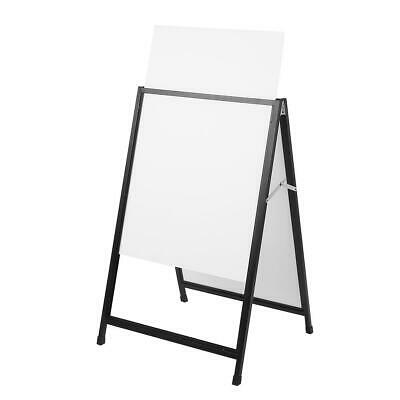 Double Side Insert A-frame/Sandwich Board Advertising Display Poster Stand Black