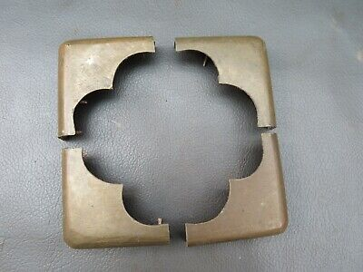 Set of 4 antique writing slope or box brass corners - spares parts