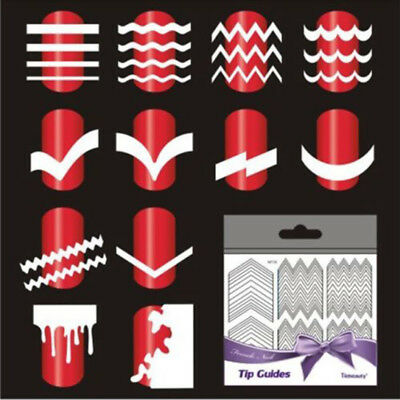 5Sheet French Manicure Nail Art Tips Form Guide Sticker Polish DIY Stencil Tool