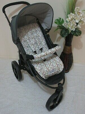 Stroller,pram liner set,universal,100% cotton fabric-Cute koalas-reversible