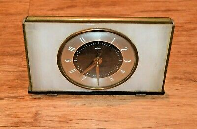 Vintage 1950's-1960's Metamec Wind up Mantle Clock with Pearlescent Frame Retro