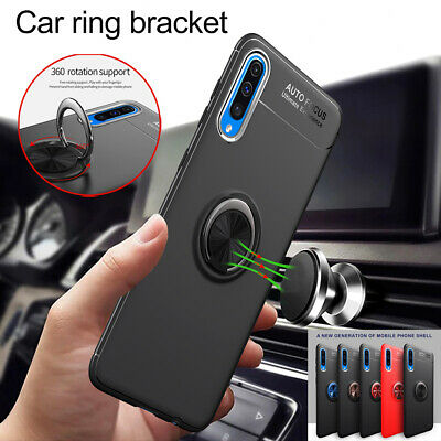 Shockproof Hybrid Magnetic Ring Holder Case Cover for Samsung Galaxy A50 A70 A40