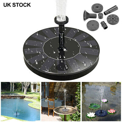Solar Panel Powered Water Feature Pump Floating Pool Pond Aquarium Fountain NEW