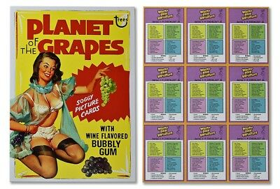 Lost Wacky Packages VARIATIONS MASTER UNCUT Puzzle Set PLANET OF THE GRAPES
