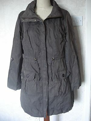 17b63dc1e84a Women's - Size 12- Debenhams Red Herring - Parka Style Brown Jacket/ Coat
