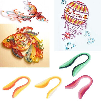100Pcs 5mm Gradient Color Paper Quilling Strips for DIY Handmade Craft Project