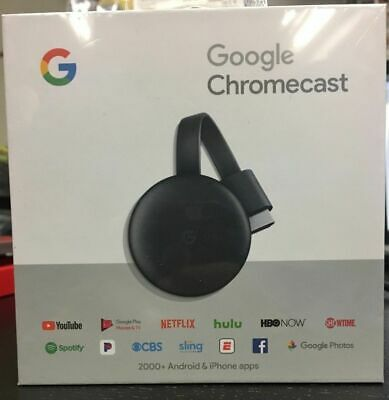 Google Chromecast 3rd Gen Digital HDMI Media Streaming Device Brand NEW
