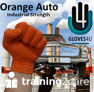 100 Disposable heavy duty nitrile gloves latex free mechanic automotive Gloves4U
