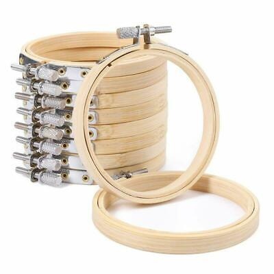 6 Pieces 4 Inch Round Wooden Embroidery Hoops Bulk Wholesale Bamboo Circle  N8B6