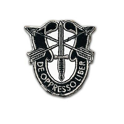 """US Special Forces Hook and Loop DUI - 2 1/2"""" X 2 1/2"""" - Non Merrowed - US ODA SF"""