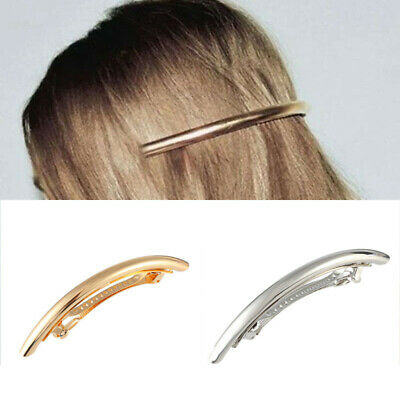 Accessory Silver Large Women Clip Hairpin Barrette Metal Fashion Hair Tube Gold