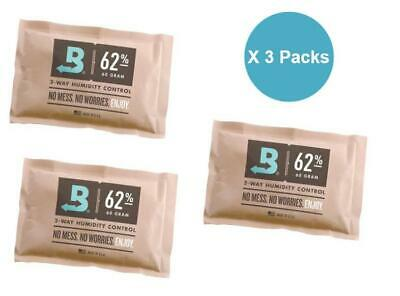 Boveda 62% 60 Gram 2-Way Humidity Control Humidipak Humidifier 3 Packs