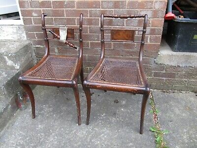 Pair of Antique Regency Style Dining Chairs,For Restoration, Collection Only