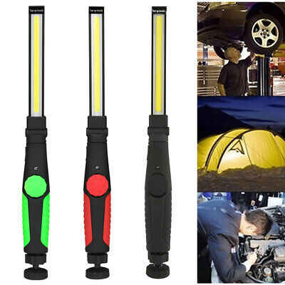Rechargeable COB LED Work Light Mechanic Work Shop Inspection Lamp Hand Torch UK