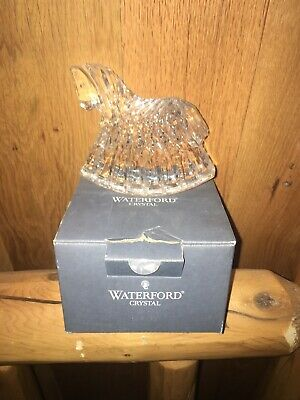 Waterford Lead Crystal Rocking Horse Figure Figurine Paperweight Baby Nursery
