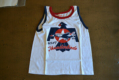 vtg 70s 80s NOS Deadstock THE KNITS Tank Top RN 13765 Soft Thin USA Made USAF
